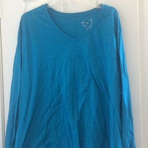 Ladies just my size long sleeved tee 4 x